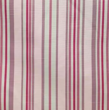 Tela cretona rayas rosas 280 - 6