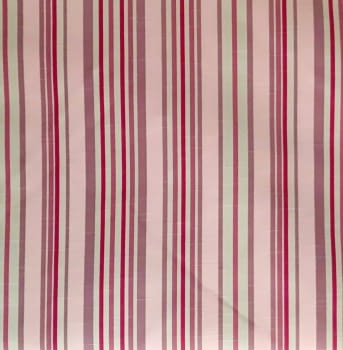 Tela cretona rayas rosas 280 - 7