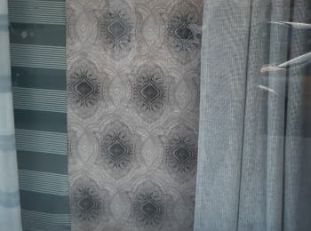 Tela cretona adamascado gris 280 - 7