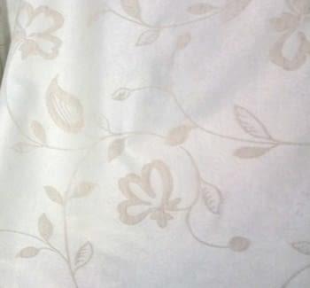 Tela Jacquard beige flor 140 - 2