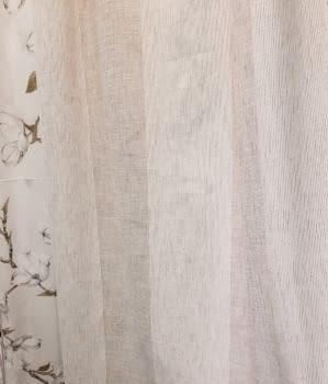 Visillo rayas anchas arena