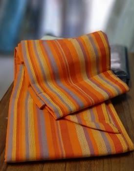 Colchas multiusos rayas naranja 180 x 260