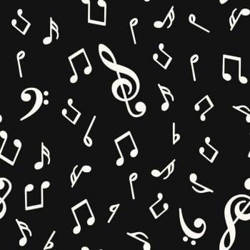 Tela notas musicales 280