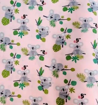 Tela algodón rosa koalas 280