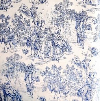Tela toile de jouy azul 280