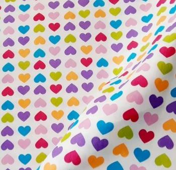Tela lineta corazones 75 x 280 - 2