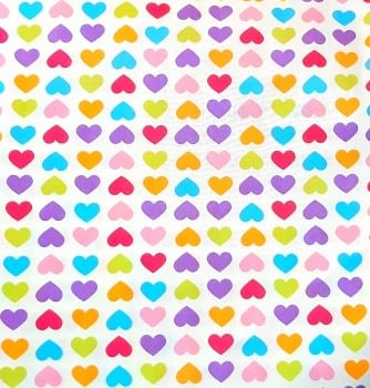 Tela lineta corazones 75 x 280 - 3