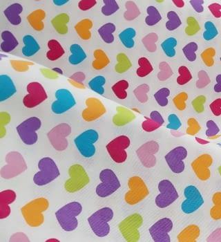 Tela lineta corazones 75 x 280 - 4