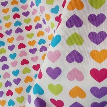 Tela lineta corazones 75 x 280 - 5