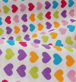 Tela lineta corazones 75 x 280 - 6