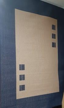 Alfombra azul 160 x 230