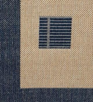 Alfombra azul 160 x 230 - 1