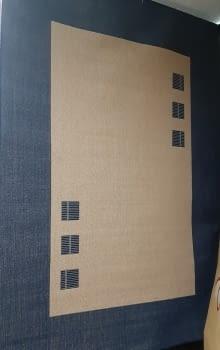 Alfombra azul 160 x 230 - 2
