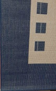 Alfombra azul 160 x 230 - 3