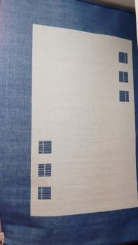 Alfombra azul 160 x 230 - 4