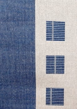 Alfombra azul 160 x 230 - 5