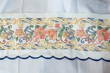 Greca flores azul - 1