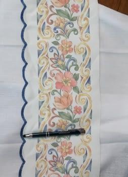 Greca flores azul - 3