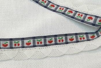 Puntilla cerezas azul - 1