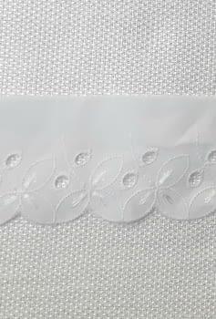 Puntilla Blanca bordada