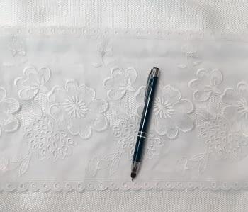Greca bordada Blanca - 2