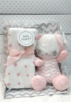 Muñeco bebé mantita rosa
