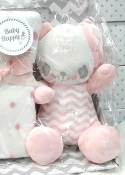 Muñeco bebé mantita rosa - 1