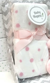Muñeco bebé mantita rosa - 2