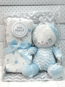 Muñeco bebé mantita azul