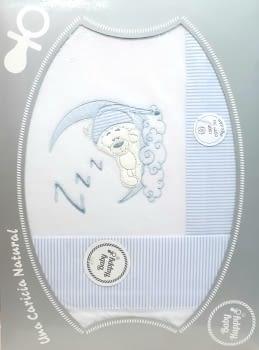 Sábanas franela cuna azul
