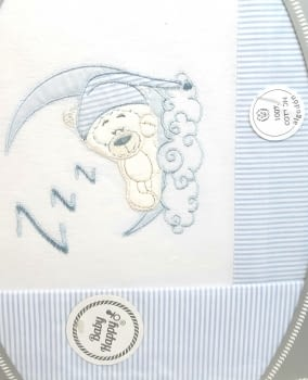 Sábanas franela cuna azul - 1