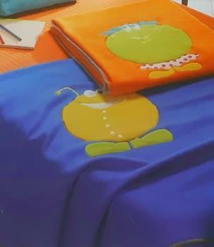 Manta infantil naranja - 4