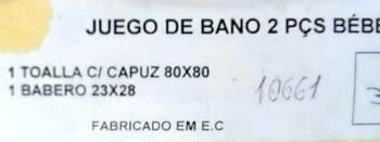 Capa baño + babero - 2