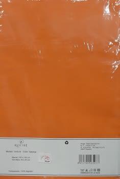 Mantelería naranja 160 x 160 + 4 - 2