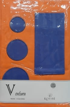 Mantelería naranja 160 x 160 + 4 - 3