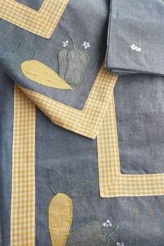 Mantel azul 135 x 135 + 6