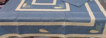 Mantel azul 135 x 135 + 6 - 1