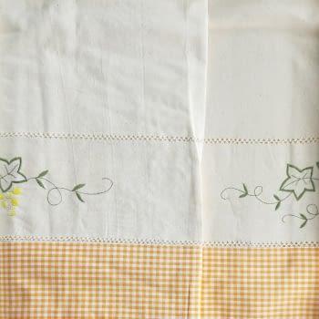 Mantelería bordada amarilla 265 x 173 - 5
