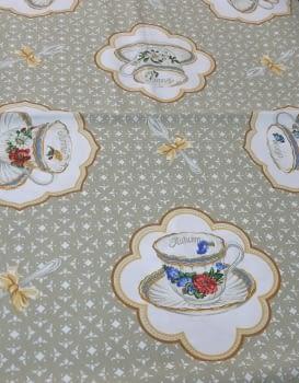 Mantelería tazas beeige 150 x 150 - 2