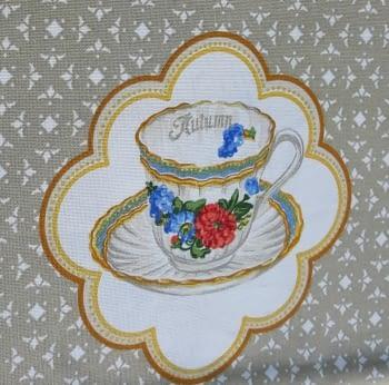 Mantelería tazas beeige 150 x 150 - 4