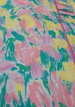 Mantelería flores 150 x 150 - 4
