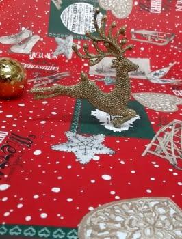 Tela resinada Navidad