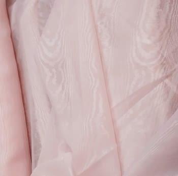 Tela visillo rosa moaré - 3