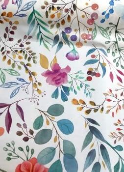 Tela antimanchas flores - 3
