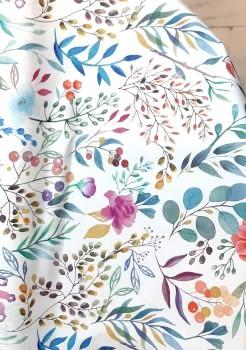Tela antimanchas flores - 4