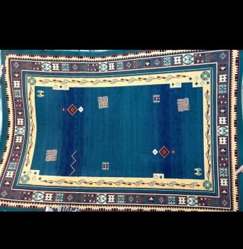 Alfombra 160 x 230 azul - 1