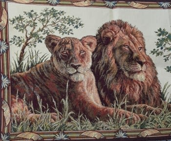 Tapiz de pared Leoni 70 x 110 - 1
