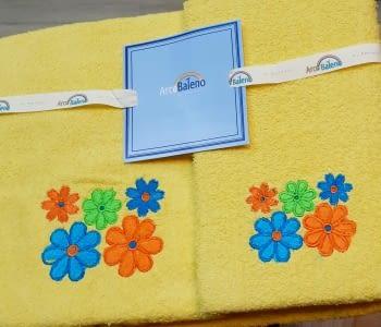 Juego de toallas flores amarillo - 3