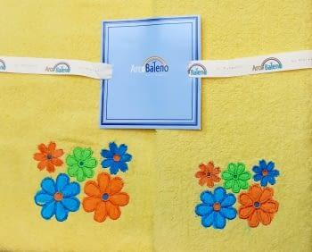 Juego de toallas flores amarillo - 4