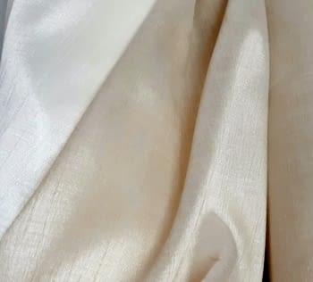 Tela visillo liso tupido beige